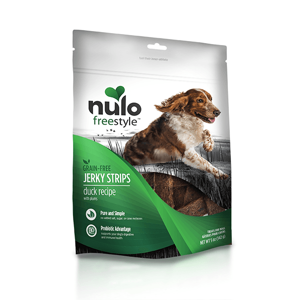 Nulo Freestyle Duck Jerky Strips with Plums - 142 g | Pisces Pets
