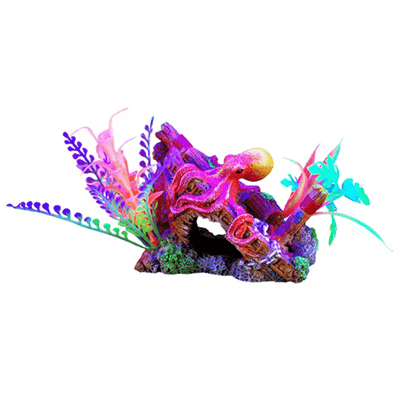 Marina iGlo Ship's Bow with Octopus | Pisces Pets