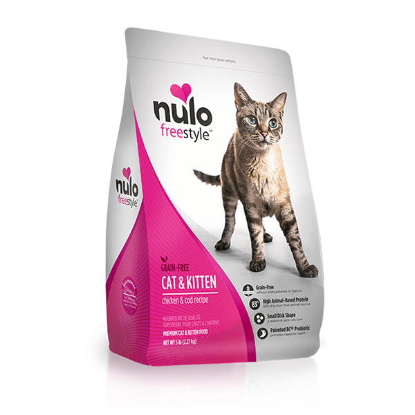 Nulo Freestyle Grain Free Cat & Kitten High Meat Chicken & Cod Cat Food | Pisces Pets
