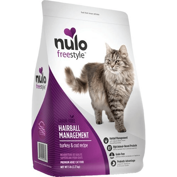 Nulo Freestyle Grain Free Hairball Management Turkey & Cod Cat Food | Pisces Pets