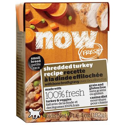 NOW Small Breed Turkey with Bone Broth Gravy - 182 g | Pisces Pets