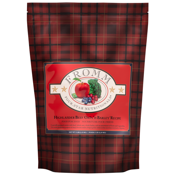 Fromm Dog Highlander Beef, Oats 'n Barkley | Pisces Pets