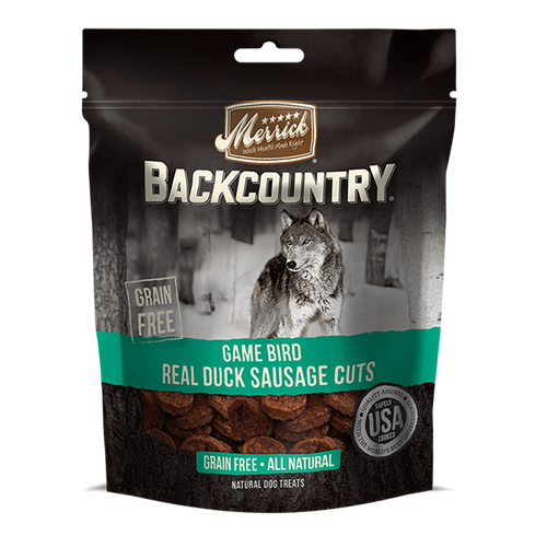 Merrick Backcountry Game Bird Real Duck Sausage Cuts - 142 g | Pisces Pets