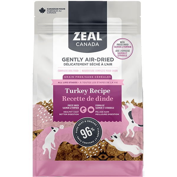 Zeal Canada Air-Dried Turkey with Salmon & Pumpkin Dog Food | Pisces Pets