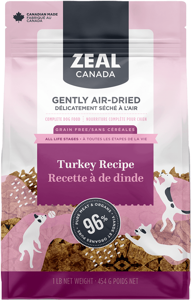 Zeal Canada Air-Dried Turkey Dog Food | Pisces Pets
