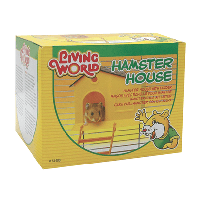 Living World Hamster House with Step Ladder | Pisces Pets