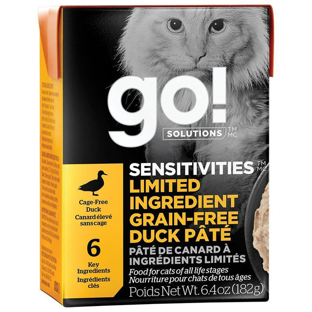 go! Sensitivities Limited Ingredient Grain Free Duck Pate Cat Food - 182 g | Pisces Pets