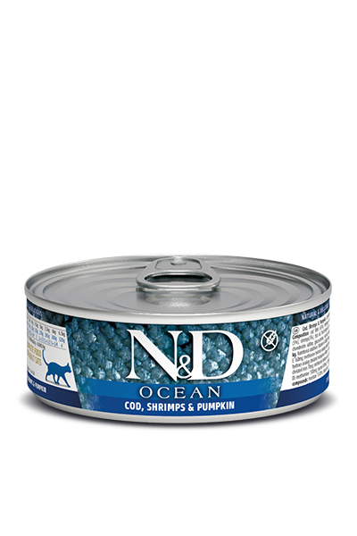 Farmina N&D Cat Food - Cod Shrimp & Pumpkin 80g