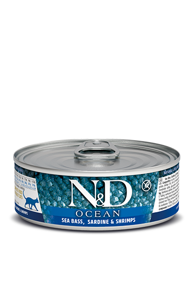 Farmina N&D Cat Food - Sea Bass Sardine & Shrimp 80g