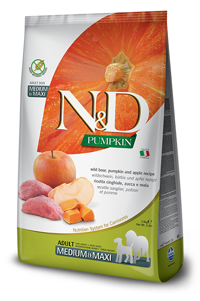 Farmina N&D Dog Food - Boar Pumpkin & Apple Medium & Maxi