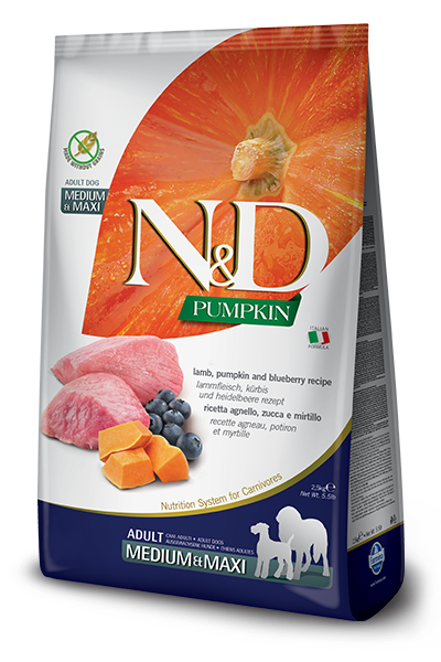 Farmina N&D Dog Food - Lamb Pumpkin & Blueberry Medium & Maxi