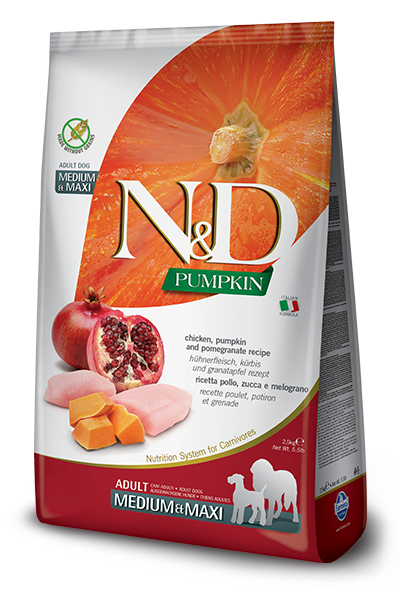 Farmina N&D Dog Food - Chicken Pumpkin & Pomegranate Medium & Maxi