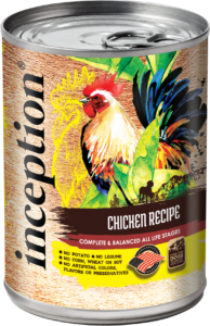 Inception Canned Dog Food - Chicken 10oz