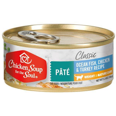 Chicken Soup Pets - Pate Fish Chicken & Turkey Cat Food 156g