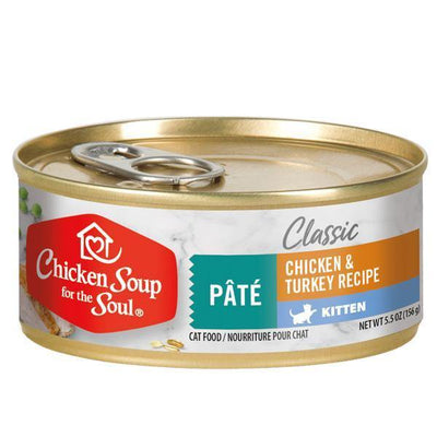 Chicken Soup Pets - Pate Chicken & Turkey Kitten Food 156g
