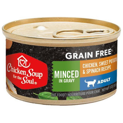 Chicken Soup Pets - Grain Free Minced Chicken Sweet Potato & Spinach Cat Food 85g