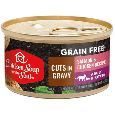 Chicken Soup Pets - Grain Free Cuts Salmon & Chicken Cat Food 85g