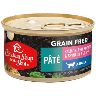 Chicken Soup Pets - Grain Free Salmon Potato & Spinach Cat Food 85g