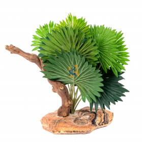 Pet-Tekk Habi-Scape Mini Fan Palm w/ Branch