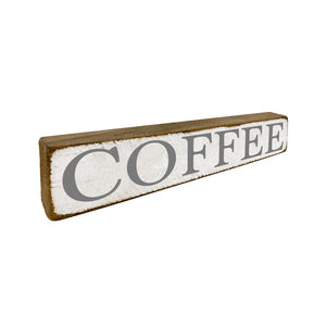 Coffee Small Shelf Sitter and Home Accent - Seven Anchor Designs