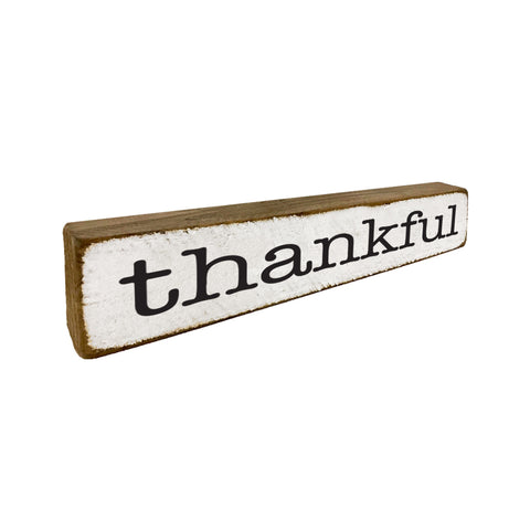 Thankful Fall Thankgiving Small Home Accent - Seven Anchor Home Decor