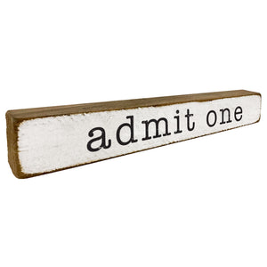 Admit One Movies Sign Home Accent - Seven Anchor Home Decor