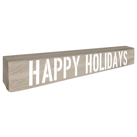 Happy Holidays Christmas Home Accent - Seven Anchor Home Decor