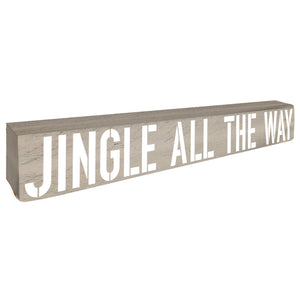 Jingle All The Way Christmas Home Accent - Seven Anchor Home Decor