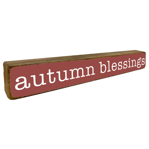 Autumn Blessings Fall Home Accent - Seven Anchor Designs