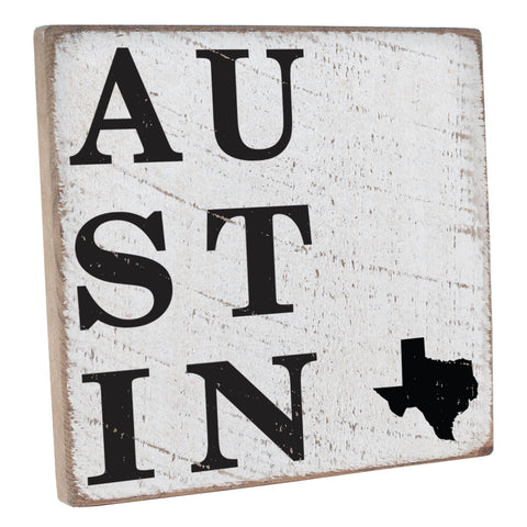 Austin Texas Wall Decor Sign - Seven Anchor Home Decor