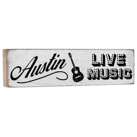 Austin Live Music Texas Wall Decor Sign - Seven Anchor Designs