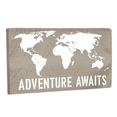 Adventure Awaits World Map Wall Décor - Seven Anchor Designs