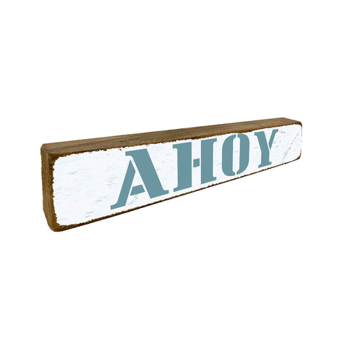 Ahoy Nautical Boat Small Home Accent - Seven Anchor Designs