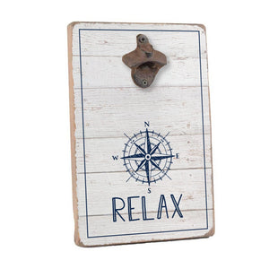 Relax Compass Bottle Opener Home Accent - Seven Anchor Home Décor