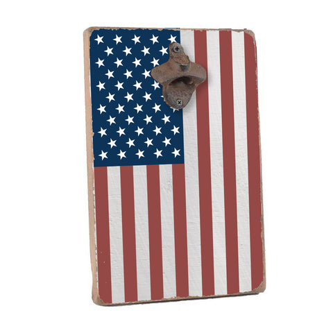 American Flag Bottle Opener Home Accent - Seven Anchor Designs