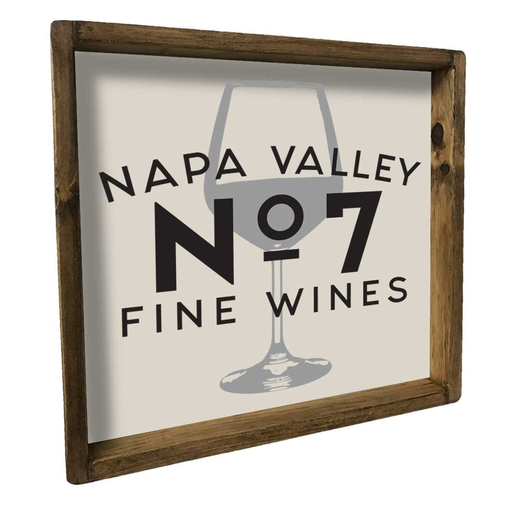 Napa valley wine glass tray home accent seven anchor designs for Napa valley home decor