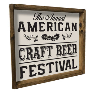 Craft Beer Festival Tray Home Accent- Seven Anchor Designs