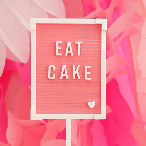 Eat Cake Letter Board Cake Topper - Sweet Layer Cake