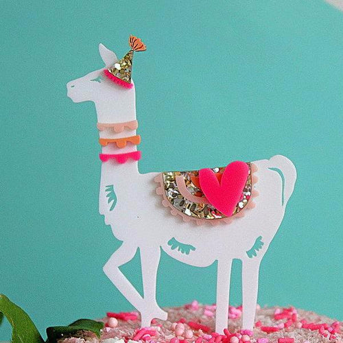 Hey Party Llama Cake Topper - Sweet Layer Cake