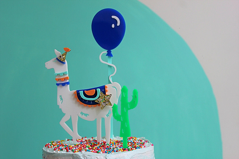 Blow Me Away Balloon Cake Topper - Sweet Layer Cake