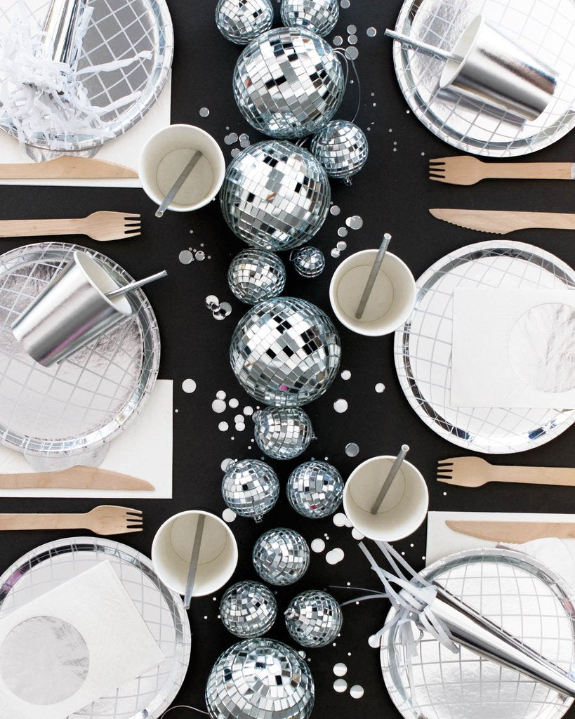 Disco Ball Plates - Sweet Layer Cake
