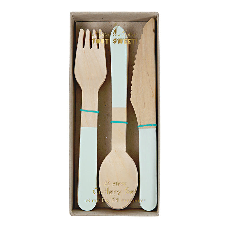Wooden Cutlery Set - Mint - Sweet Layer Cake