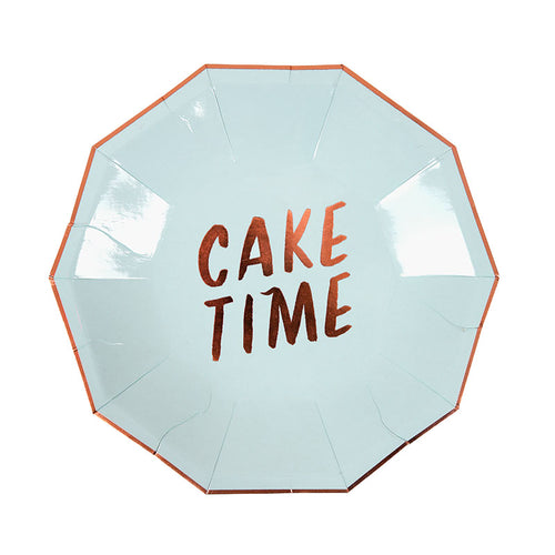Small Typographic Party Plates - Sweet Layer Cake