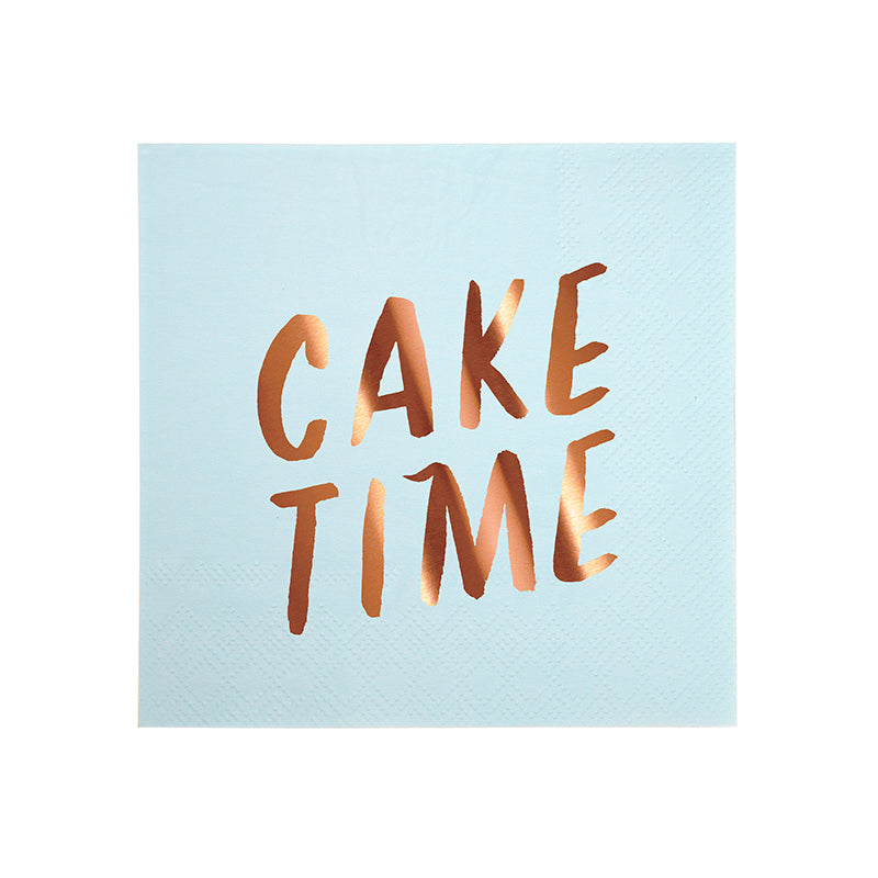 Small Typographic Napkins - Sweet Layer Cake
