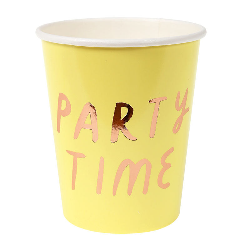 Typographic Party Cups - Sweet Layer Cake