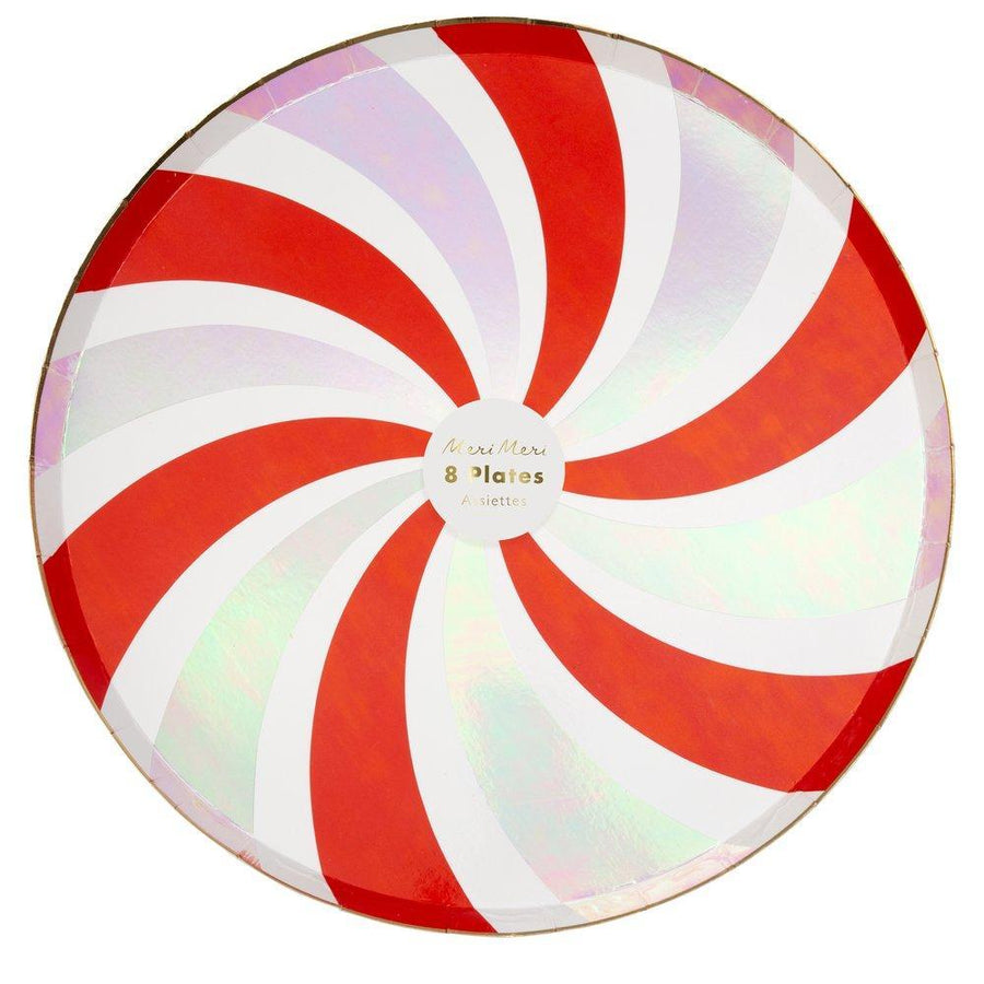 Peppermint Swirl Dinner Plates - Sweet Layer Cake