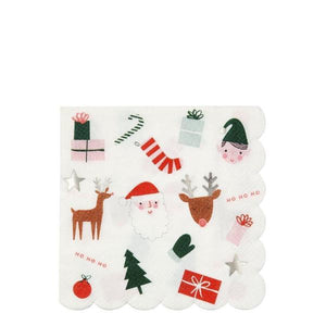 Christmas party napkins