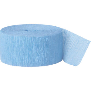 Baby Blue Crepe Paper Decoration