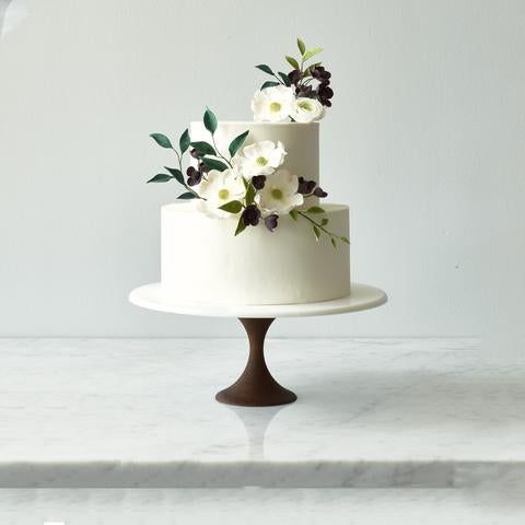 Walnut Thin Base Cake Stand - 12 inches - Sweet Layer Cake