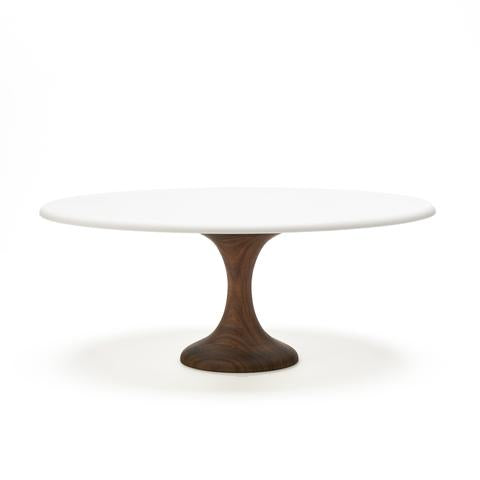 Walnut Cake Stand - 12 inches - Sweet Layer Cake